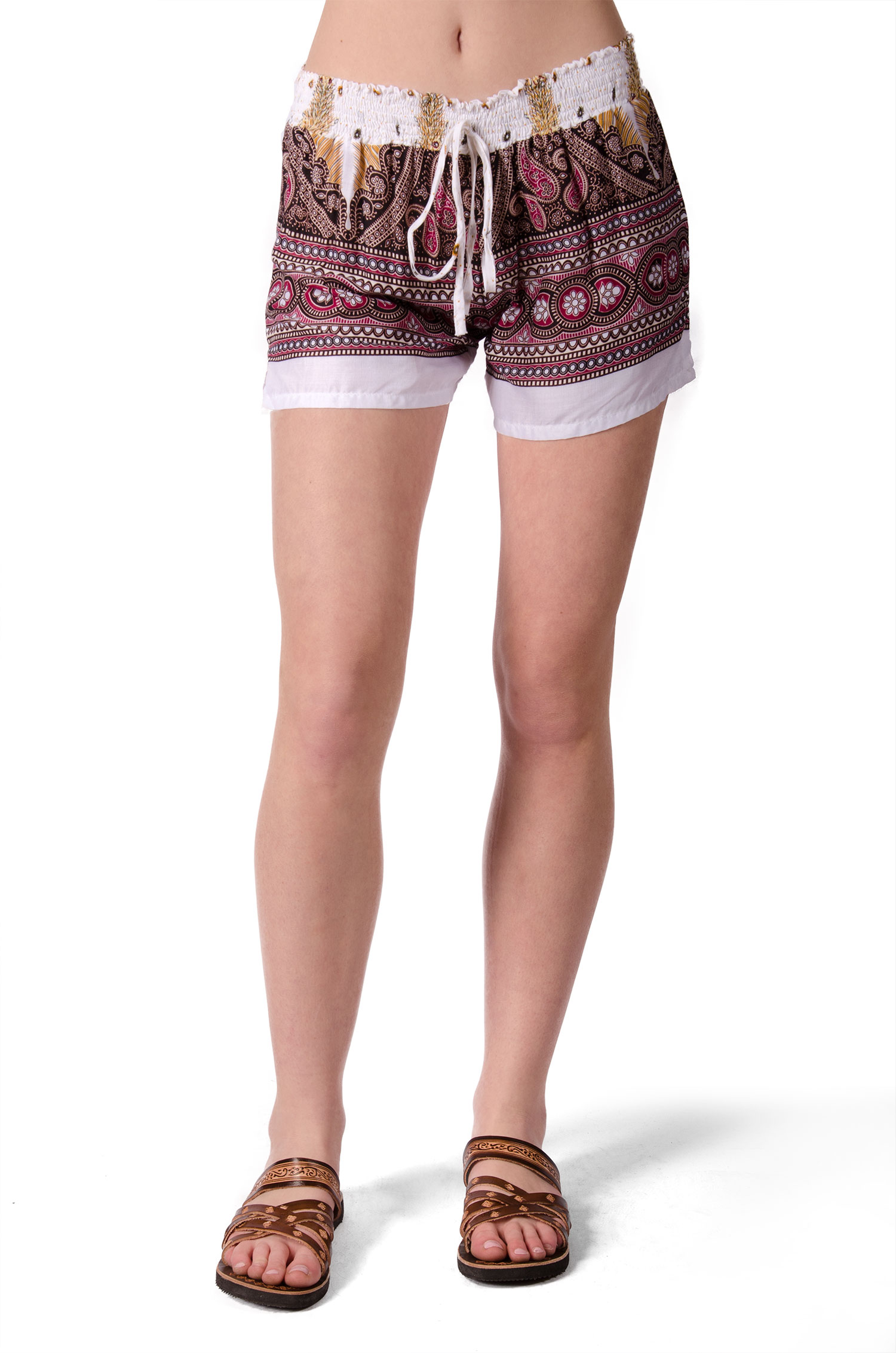 Print Mini Shorts - White Multi - 4487W