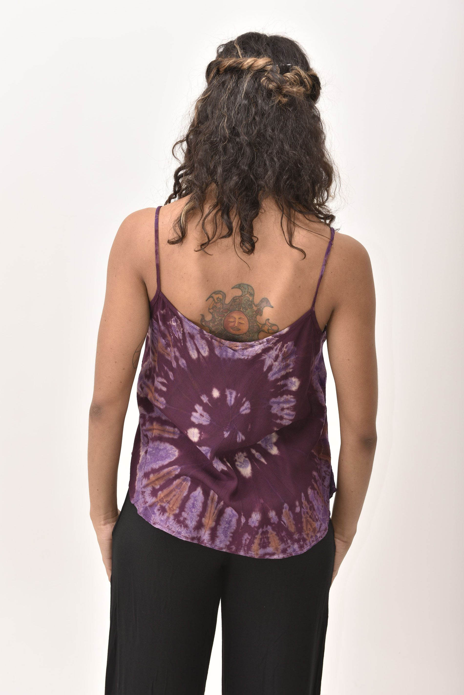 Tank Top Hand Painted Tie Dye, Purple - 4489U