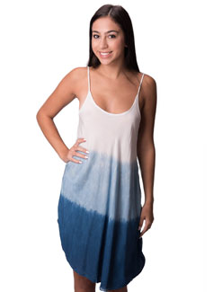 indigo spaghetti sundress - 4505-IS