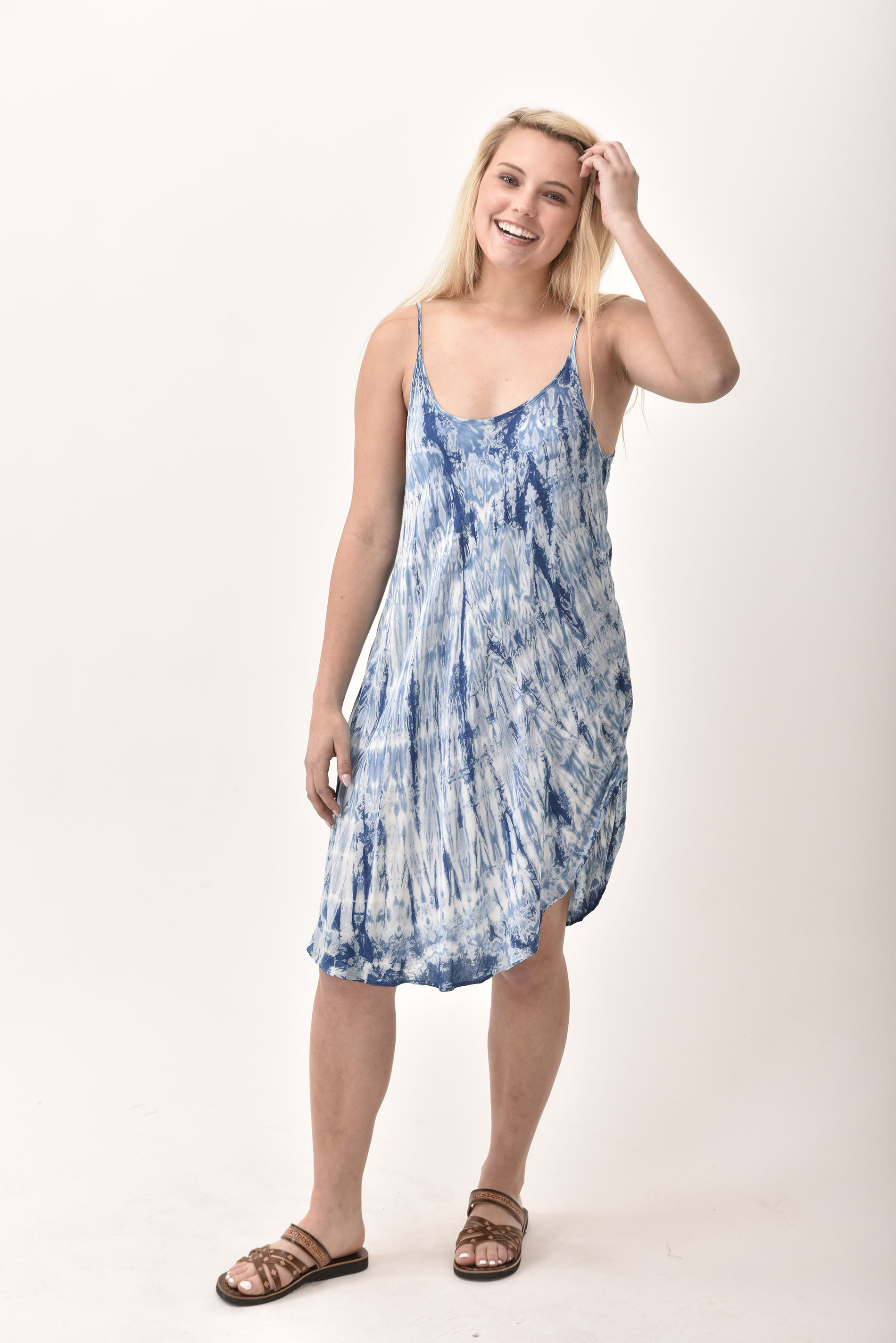 Spaghetti Sundress, Indigo - 4505-IT