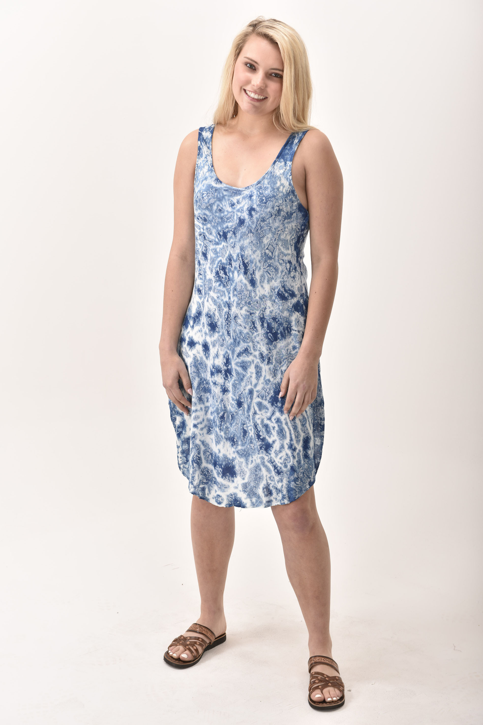 Short Dress, Indigo - 4508-IM