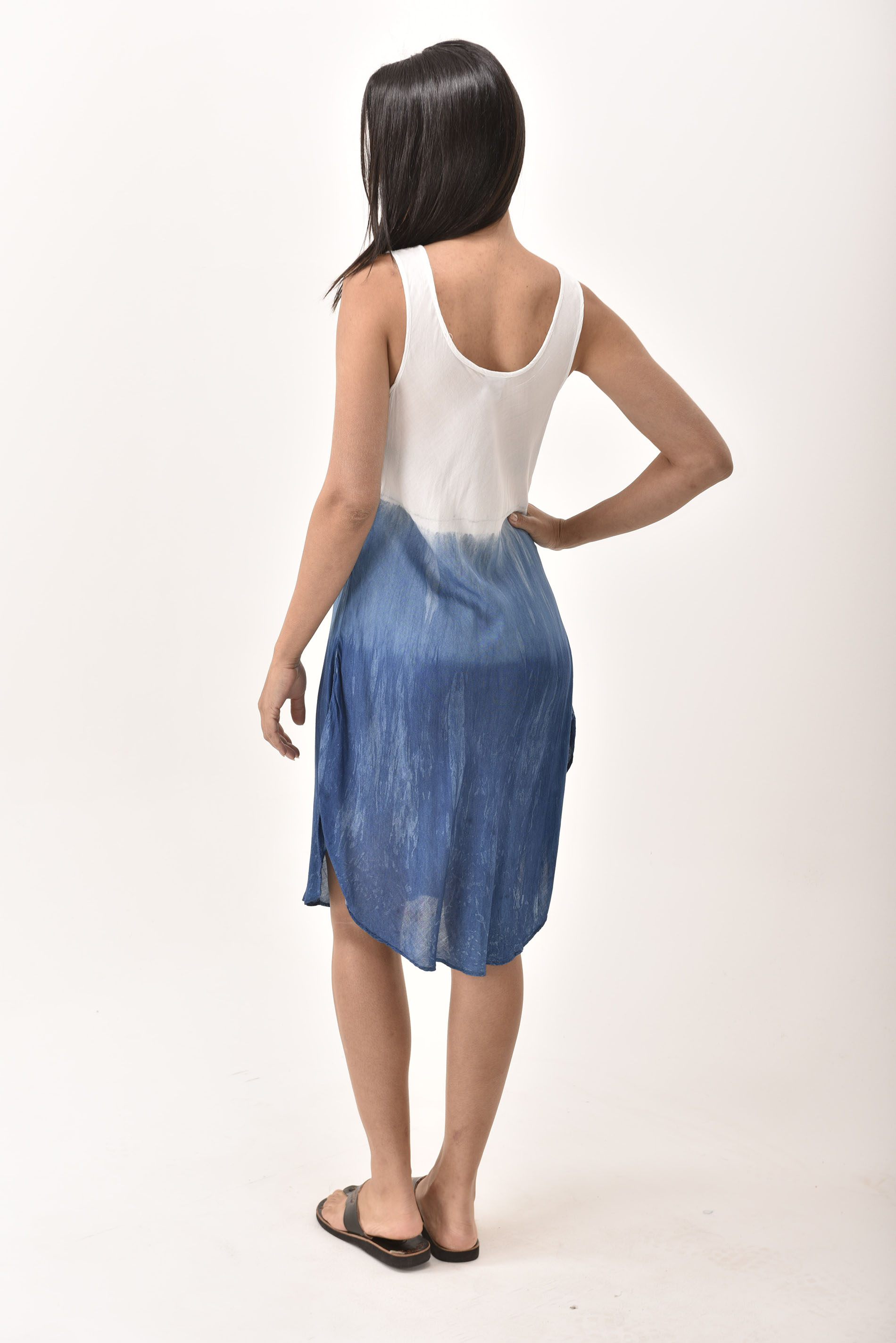 indigo short dress 4508-IS