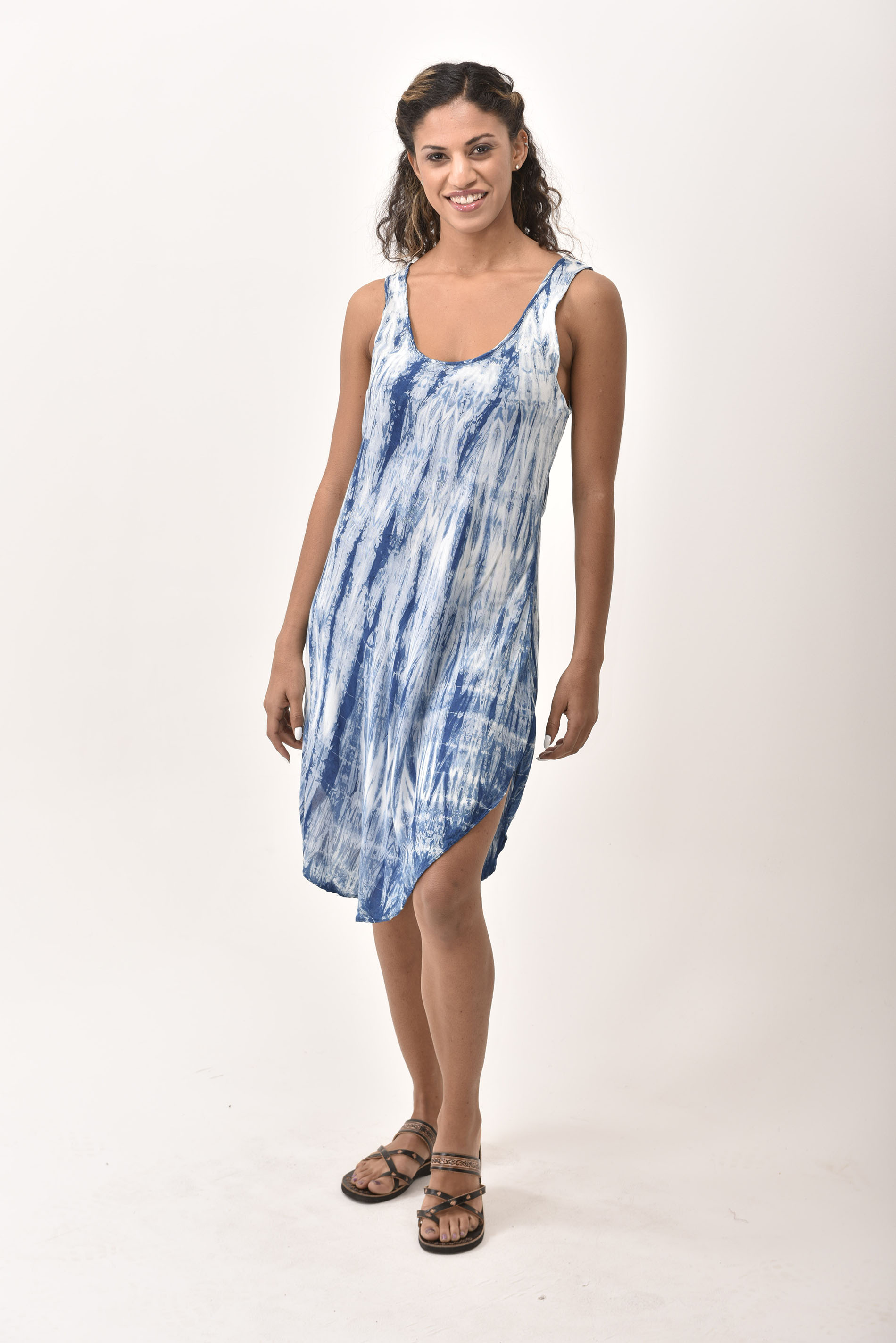 Short Dress, Indigo - 4508-IT