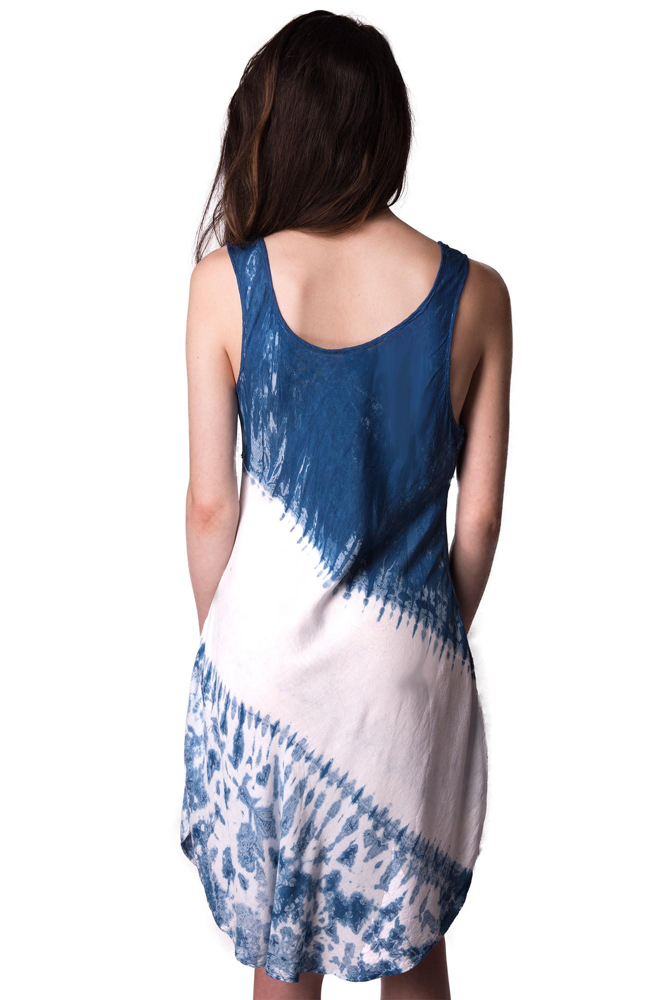 indigo short dress - 4508-IW
