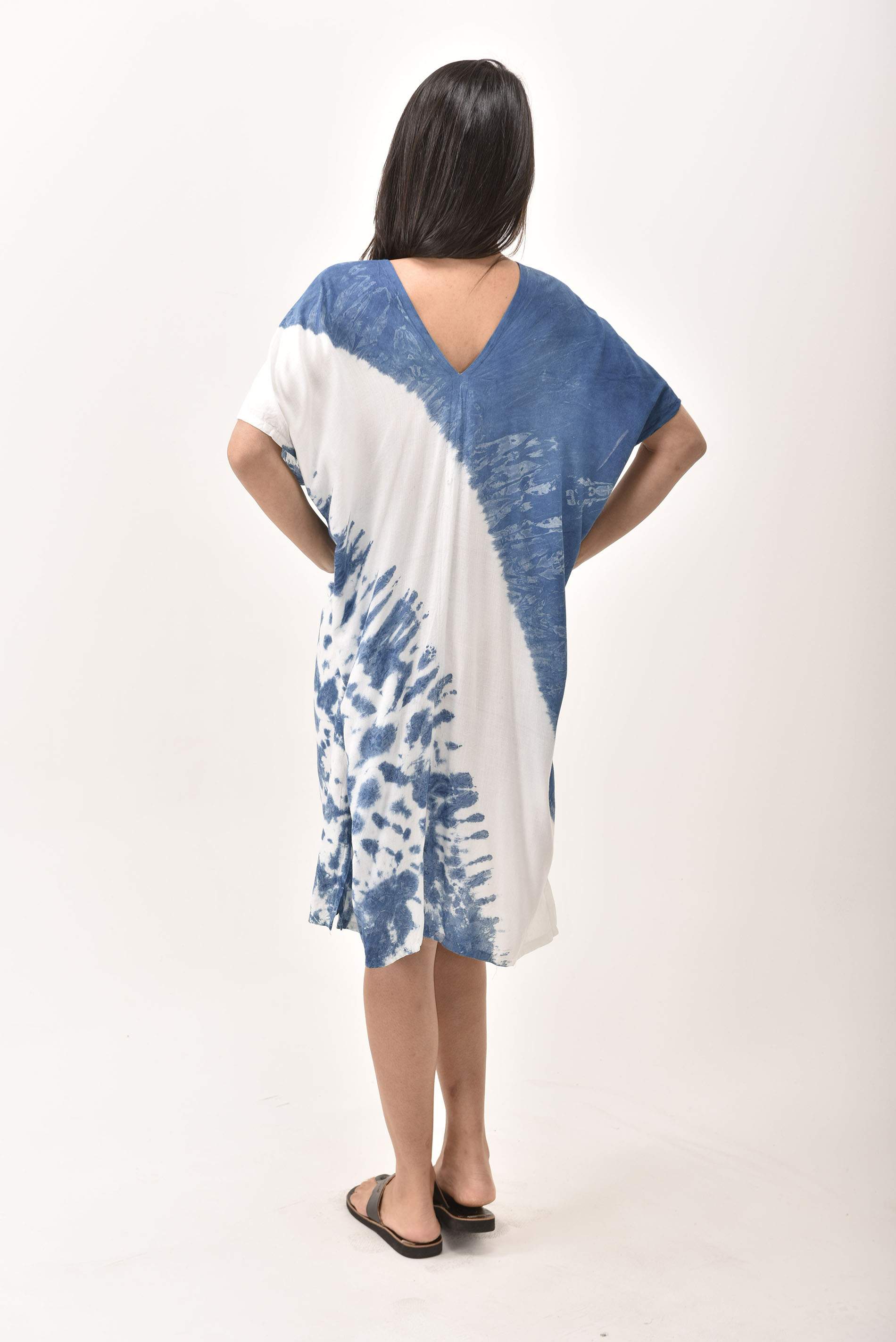 V-Neck Dress, Indigo - 4510-IW