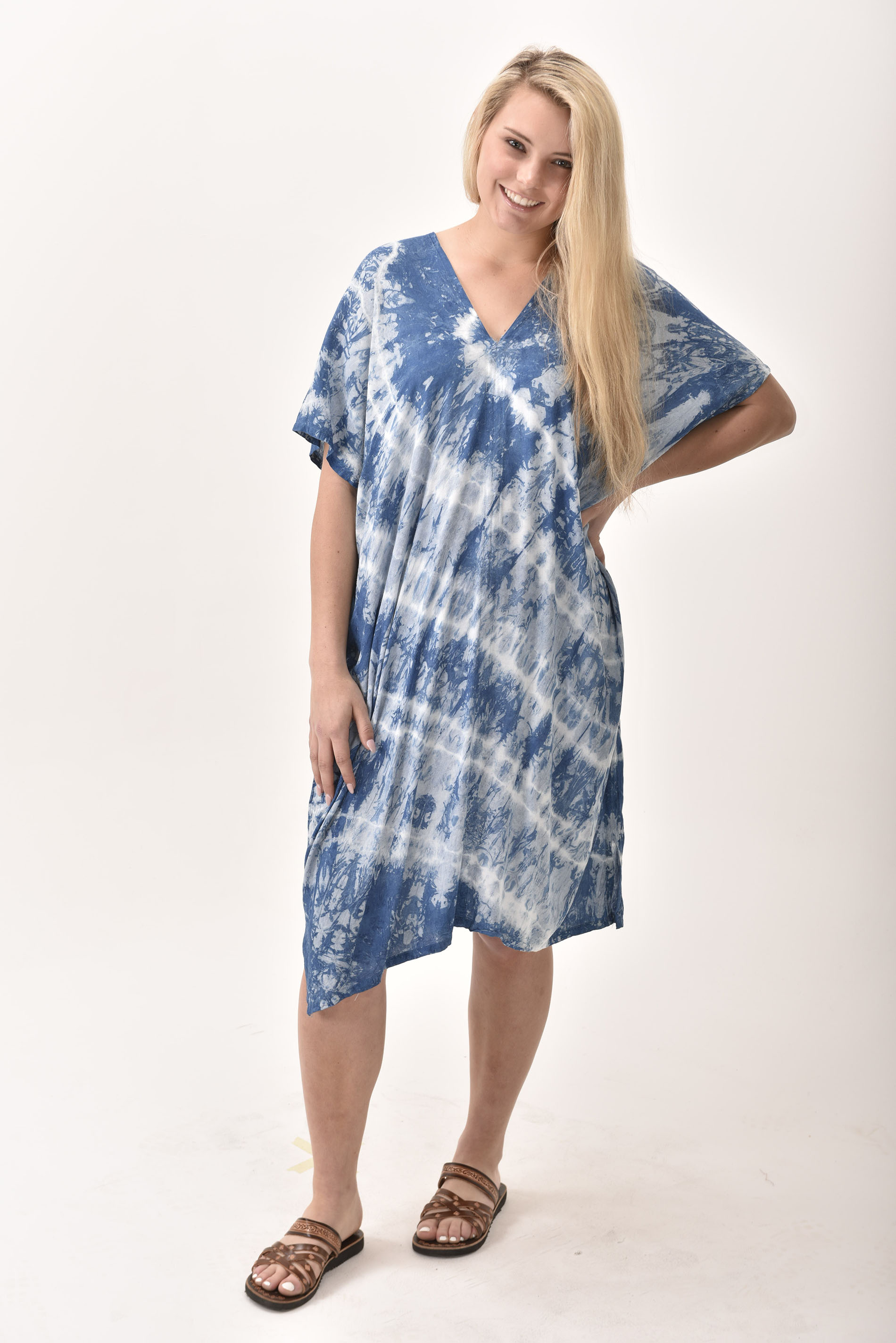 V-Neck Dress, Indigo - 4510-IM