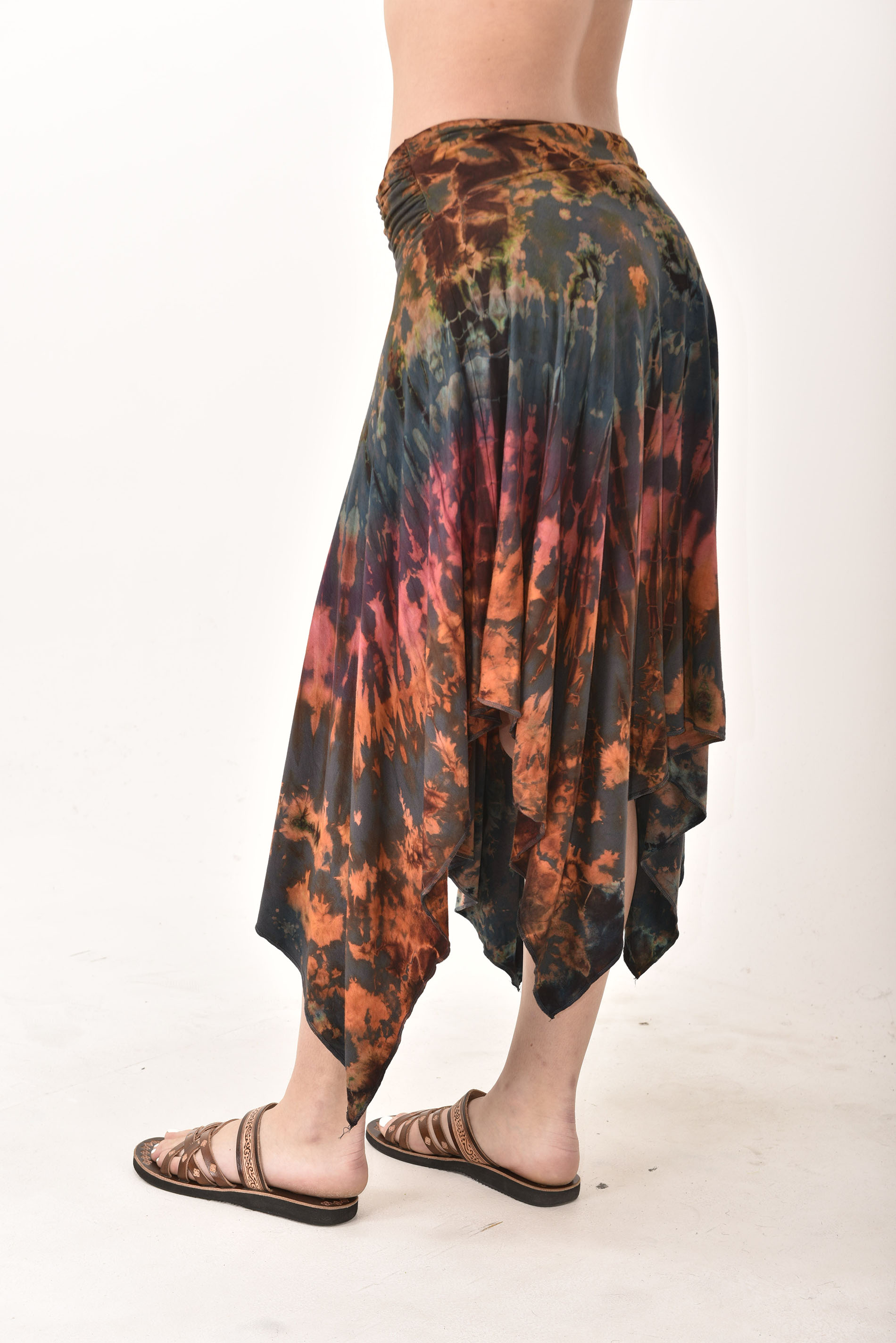 Hand Painted Tie Dye Fairy Skirt Rust