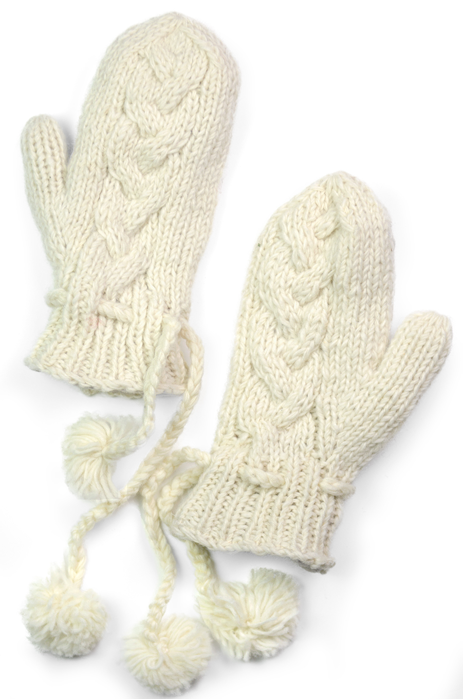Wool Cable Knit Mittens