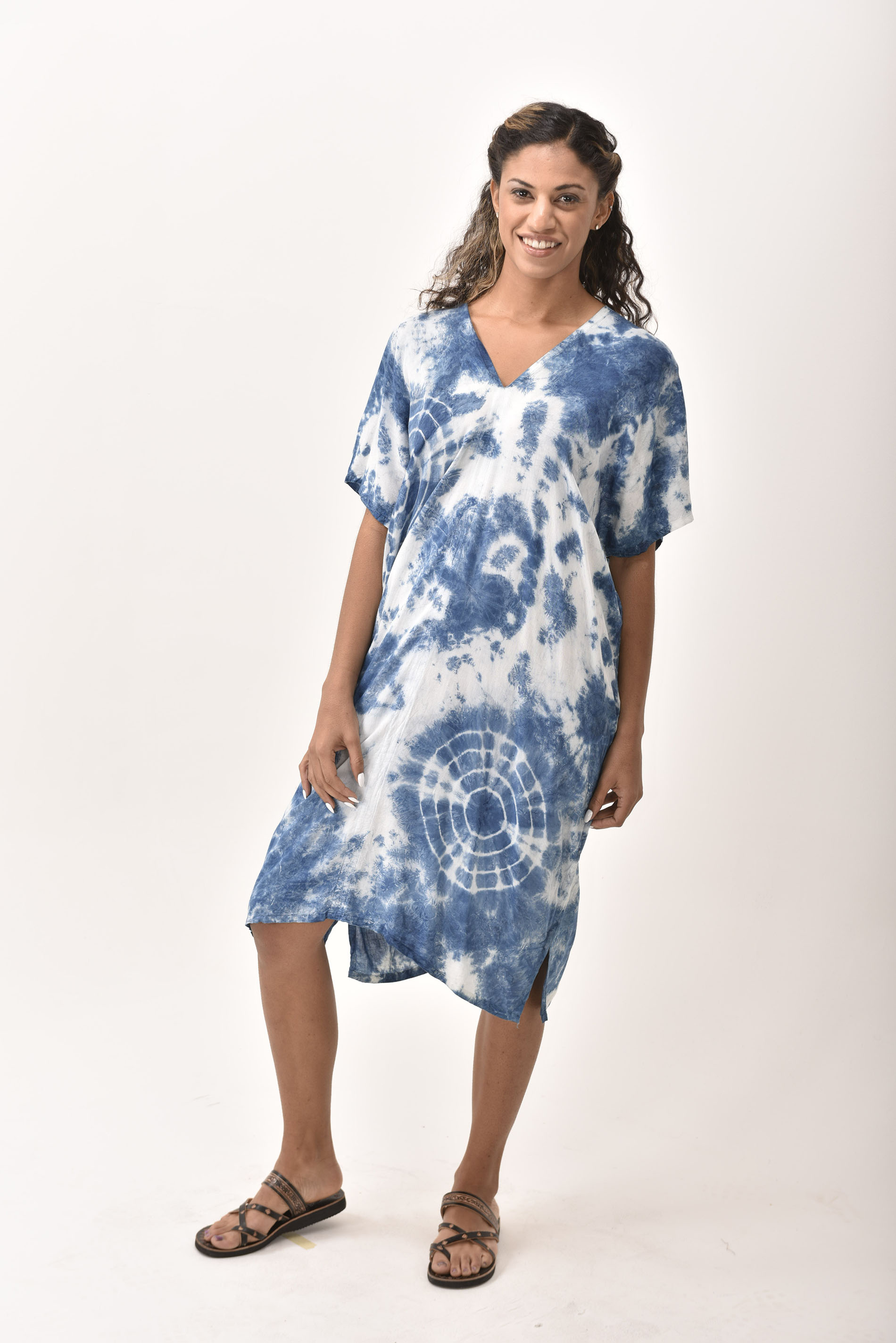 V-Neck Dress, Indigo - 4510-IH