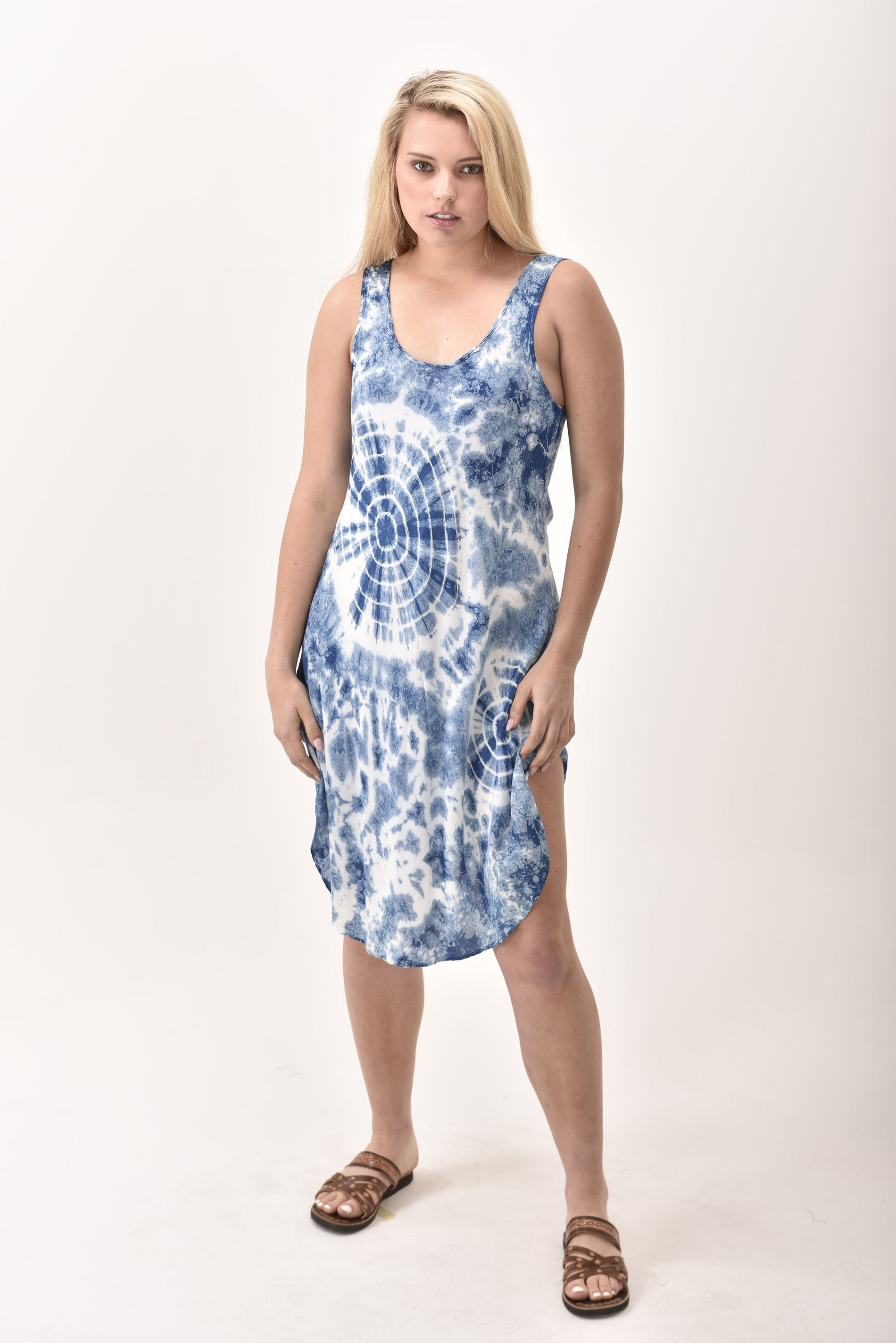 Short Dress, Indigo - 4508-IH