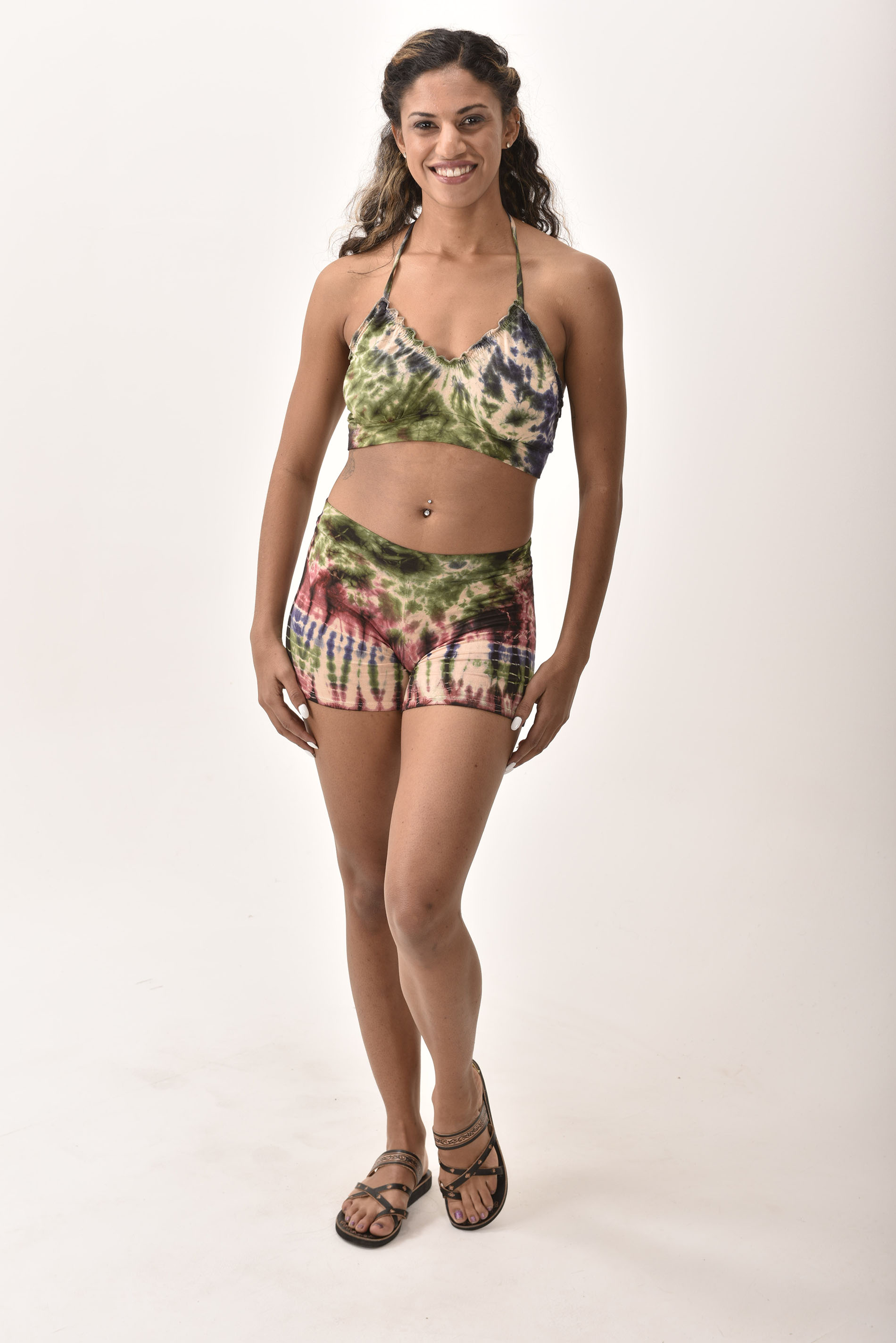 Shorts & Halter - Cool Colors Multi