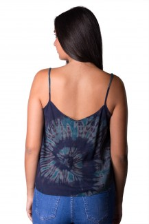 Tank Top Hand Painted Tie Dye, Blue - 4489B